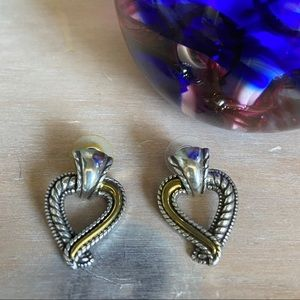 Brighton 2 Tone Heart Earrings
